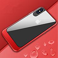 Недорогие Кейсы для iPhone 8-Кейс для Назначение Apple iPhone X / iPhone 8 Защита от удара / Зеркальная поверхность / Полупрозрачный Чехол Однотонный Твердый ПК для