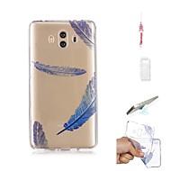 preiswerte Handyhüllen-Hülle Für Huawei Mate 10 Transparent Rückseite Feder Weich TPU für Mate 10