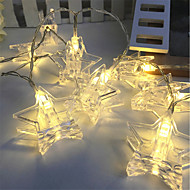cheap -3m String Lights 20 LEDs Warm White / RGB Decorative Batteries Powered 1pc