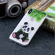 Недорогие Кейсы для iPhone 8 Plus-Кейс для Назначение Apple iPhone X / iPhone 8 IMD / С узором Кейс на заднюю панель Панда Мягкий ТПУ для iPhone X / iPhone 8 Pluss / iPhone 8