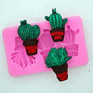 お買い得  キッチン用小物-ベークツール シリコーン ホリデー / 3Dカトゥーン / 創造的 チョコレート / 調理器具のための / ケーキのための 方形 ケーキ型 1個