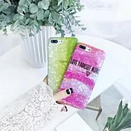 Недорогие Кейсы для iPhone 8 Plus-Кейс для Назначение Apple iPhone X / iPhone 7 Полупрозрачный Кейс на заднюю панель Слова / выражения / Градиент цвета Мягкий Силикон для
