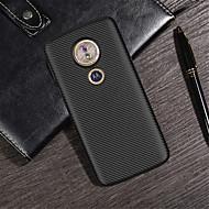 お買い得  携帯電話ケース-ケース 用途 Motorola Moto G6 Play / Moto G6 Plus エンボス加工 バックカバー ソリッド ソフト TPU のために MOTO G6 / Moto G6 Play / Moto G6 Plus