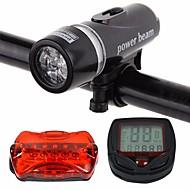 お買い得  フラッシュライト/ランタン/ライト-自転車用ヘッドライト / 後部バイク光 / 充電式自転車ライトセット LED 自転車用ライト サイクリング 防水, パータブル, 防塵 リチウムイオン 400 lm ホワイト サイクリング