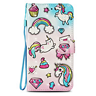 cheap -Case For Apple iPhone X / iPhone 8 Card Holder / with Stand / Flip Full Body Cases Unicorn Hard PU Leather for iPhone X / iPhone 8 Plus / iPhone 8