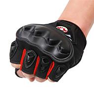 お買い得  -WOSAWE ハーフフィンガー 男女兼用 オートバイグローブ PVC(ポリ塩化ビニル) / 高通気性メッシュ / ポリエステル生地 高通気性 / 耐摩耗性 / 耐衝撃性の