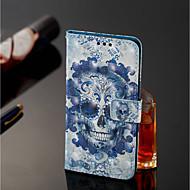preiswerte Handyhüllen-Hülle Für Xiaomi Redmi Note 5 Pro / Xiaomi Mi Mix 2S Geldbeutel / Kreditkartenfächer / mit Halterung Ganzkörper-Gehäuse Totenkopf Motiv Hart PU-Leder für Xiaomi Redmi Note 5 Pro / Xiaomi Mi Mix 2S