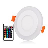 olcso Panel világítás-ZDM® 1set 3 W 30 LED Új design / Távirányító / Tompítható Panel izzók / LED mélysugárzók RGB + Meleg / RGB + fehér 85-265 V Kereskedelmi