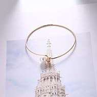 preiswerte -Damen Dicke Kette Armband - Künstliche Perle Einfach, Europäisch, Modisch Armbänder Gold Für Alltag