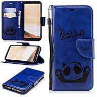 Недорогие Чехлы и кейсы для Galaxy S8-Кейс для Назначение SSamsung Galaxy S8 Кошелек / Бумажник для карт / со стендом Чехол Панда Твердый Кожа PU для S8