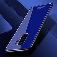 Недорогие Чехлы и кейсы для Galaxy S8 Plus-Кейс для Назначение SSamsung Galaxy S9 Plus / S9 Зеркальная поверхность Кейс на заднюю панель Однотонный Твердый Закаленное стекло для S9