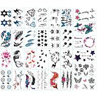 abordables Tatuajes Temporales-30 pcs Tatuajes Adhesivos Los tatuajes temporales Series de Tótem / Series de Animal / Series de Flor Artes de cuerpo brazo