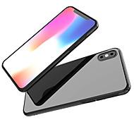 Недорогие Кейсы для iPhone 8-Кейс для Назначение Apple iPhone X / iPhone 8 Зеркальная поверхность Кейс на заднюю панель Однотонный Мягкий ТПУ для iPhone X / iPhone 8