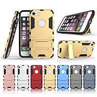 Недорогие Кейсы для iPhone 8-Кейс для Назначение Apple iPhone 8 / iPhone 7 со стендом Кейс на заднюю панель Однотонный Твердый ПК для iPhone 8 / iPhone 7