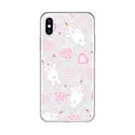 cheap -Case For Apple iPhone X / iPhone 8 Plus Pattern Back Cover Heart / Unicorn / Cartoon Soft TPU for iPhone X / iPhone 8 Plus / iPhone 8