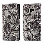 Недорогие Чехлы и кейсы для Galaxy S8-Кейс для Назначение SSamsung Galaxy S8 Кошелек / Бумажник для карт / со стендом Чехол Кружева Печать Твердый Кожа PU для S8