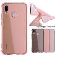preiswerte Handyhüllen-Hülle Für Huawei P20 Pro / P20 lite Stoßresistent / Transparent Rückseite Solide Weich TPU für Huawei P20 / Huawei P20 Pro / Huawei P20 lite