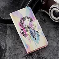 Недорогие Кейсы для iPhone 8 Plus-Кейс для Назначение Apple iPhone X / iPhone 8 Plus Кошелек / Бумажник для карт / со стендом Чехол Ловец снов Твердый Кожа PU для iPhone X