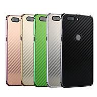 お買い得  携帯電話ケース-ケース 用途 OnePlus OnePlus 5T 耐衝撃 / メッキ仕上げ バックカバー ソリッド ハード カーボンファイバー / メタル のために OnePlus 5T