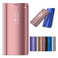 Недорогие Чехлы и кейсы для Galaxy S6 Edge Plus-Кейс для Назначение SSamsung Galaxy S9 Plus / S9 со стендом / Покрытие / Зеркальная поверхность Чехол Однотонный Твердый ПК для S9 / S9 Plus / S8 Plus