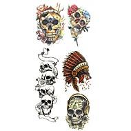 abordables Tatuajes Temporales-Modelo / Pegatina tatuaje manos / brazo / muñeca Los tatuajes temporales 1 pcs Series de Tótem Artes de cuerpo