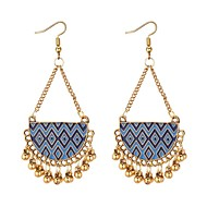 cheap -Women's Long Drop Earrings - Vintage, Ethnic, Fashion Black / Red / Blue For Party / Evening / Going out