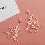 preiswerte -Damen Quaste Tropfen-Ohrringe - Künstliche Perle Europäisch, Modisch Weiß Für Alltag