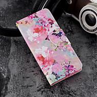 Недорогие Кейсы для iPhone 8 Plus-Кейс для Назначение Apple iPhone X / iPhone 8 Plus Кошелек / Бумажник для карт / со стендом Чехол Цветы Твердый Кожа PU для iPhone X /