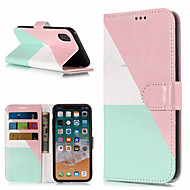 Недорогие Кейсы для iPhone 8 Plus-Кейс для Назначение Apple iPhone X / iPhone 8 Plus Кошелек / Бумажник для карт / со стендом Чехол Мрамор Твердый Кожа PU для iPhone X / iPhone 8 Pluss / iPhone 8