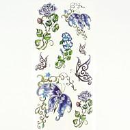 billige Midlertidige tatoveringer-1 pcs Tatoveringsklistermærker Midlertidige Tatoveringer Dyre Serier / Blomster Serier Kropskunst hænder / arm / håndled