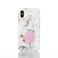 cheap -Case For Apple iPhone X / iPhone 8 IMD Back Cover Geometric Pattern / Marble Soft TPU for iPhone X / iPhone 8 Plus / iPhone 8