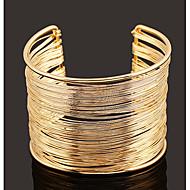 hesapli -Kadın's Eski Tip Tarz Halhallar - Basit, Avrupa, abartma Bilezikler Mücevher Altın / Gümüş Uyumluluk Günlük Cadde