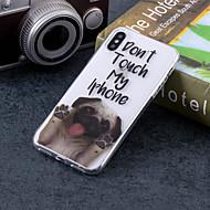 Недорогие Кейсы для iPhone 8 Plus-Кейс для Назначение Apple iPhone X / iPhone 8 Plus IMD / С узором Кейс на заднюю панель С собакой / Слова / выражения Мягкий ТПУ для iPhone X / iPhone 8 Pluss / iPhone 8