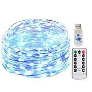 お買い得  -KWB 5m ストリングライト 50 LED SMD 0603 1 13キーリモコン 温白色 / ホワイト / ブルー 新デザイン / USB / 装飾用 USBパワード 1セット