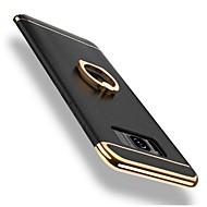 Недорогие Чехлы и кейсы для Galaxy S8-Кейс для Назначение SSamsung Galaxy S9 / S8 Защита от удара / Покрытие / Кольца-держатели Кейс на заднюю панель Однотонный Твердый ПК для S9 / S9 Plus / S8 Plus