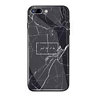 Недорогие Кейсы для iPhone 8-Кейс для Назначение Apple iPhone X / iPhone 8 Plus Зеркальная поверхность / С узором Кейс на заднюю панель Слова / выражения / Мрамор Твердый ТПУ / Закаленное стекло для iPhone X / iPhone 8 Pluss