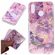 preiswerte Handyhüllen-Hülle Für Huawei P20 Pro / P20 lite Beschichtung / IMD / Muster Rückseite Marmor Weich TPU für Huawei P20 / Huawei P20 Pro / Huawei P20 lite