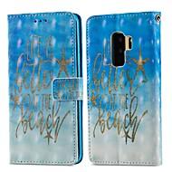 Недорогие Чехлы и кейсы для Galaxy S7-Кейс для Назначение SSamsung Galaxy S9 Plus / S9 Кошелек / Бумажник для карт / со стендом Чехол Слова / выражения Твердый Кожа PU для S9 / S9 Plus / S8 Plus