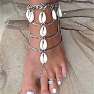 Dámské Vrstvené Yalınayak Sandaletleri - Mušle Slunce, Mušle dámy, stylové, Klasické Šperky Stříbrná Pro Bikini