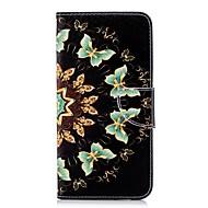 Недорогие Чехлы и кейсы для Galaxy А-Кейс для Назначение SSamsung Galaxy A8 Plus 2018 / A6+ (2018) Кошелек / Бумажник для карт / со стендом Чехол Бабочка Твердый Кожа PU для A5(2018) / A6 (2018) / A6+ (2018)