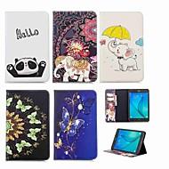 Недорогие Чехлы и кейсы для Samsung Tab-Кейс для Назначение SSamsung Galaxy Tab A 8.0 Кошелек / Бумажник для карт / со стендом Чехол Слон Твердый Кожа PU для Tab A 8.0