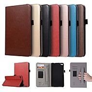 お買い得  携帯電話ケース-ケース 用途 Huawei MediaPad T2 7.0 Pro カードホルダー / スタンド付き / 磁石バックル フルボディーケース ソリッド ハード PUレザー のために Huawei MediaPad T2 7.0 Pro