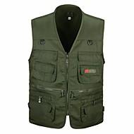 כותנה בגדי ריקוד גברים אודם ירוק צבא חאקי XL XXL XXXL וסט מידות גדולות בסיסי / Military אחיד ספורט / ללא שרוולים
