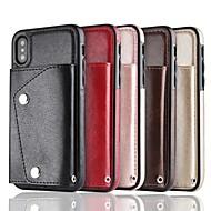 Недорогие Кейсы для iPhone 8-Кейс для Назначение Apple iPhone X / iPhone 8 Кошелек / Бумажник для карт Кейс на заднюю панель Однотонный Твердый Кожа PU для iPhone X / iPhone 8 Pluss / iPhone 8