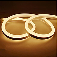 abordables Tiras de Luces LED-1m Tiras LED Flexibles 120 LED 2835 SMD Blanco Cálido / Blanco / Amarillo Impermeable / Cortable / Decorativa 12 V 1pc