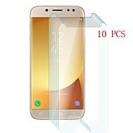 Недорогие Защитные пленки для Samsung-Защитная плёнка для экрана для Samsung Galaxy J5 (2017) Закаленное стекло 10 ед. Защитная пленка для экрана Уровень защиты 9H / Защита от царапин