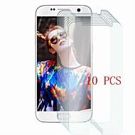 Недорогие Чехлы и кейсы для Galaxy S-Защитная плёнка для экрана для Samsung Galaxy S7 Закаленное стекло 10 ед. Защитная пленка для экрана Уровень защиты 9H / Защита от царапин