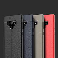 Недорогие Чехлы и кейсы для Galaxy Note 8-Кейс для Назначение SSamsung Galaxy Note 9 / Note 8 Рельефный Кейс на заднюю панель Однотонный Мягкий Кожа PU для Note 9 / Note 8