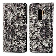Недорогие Чехлы и кейсы для Galaxy S8 Plus-Кейс для Назначение SSamsung Galaxy S9 Plus / S9 Кошелек / Бумажник для карт / со стендом Чехол Кружева Печать Твердый Кожа PU для S9 / S9 Plus / S8 Plus