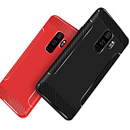 Недорогие Чехлы и кейсы для Galaxy S9 Plus-Кейс для Назначение SSamsung Galaxy S9 Plus / S9 Защита от удара / Матовое Кейс на заднюю панель Однотонный Мягкий ТПУ для S9 / S9 Plus / S8 Plus